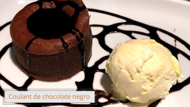 Coulant de chocolate negro